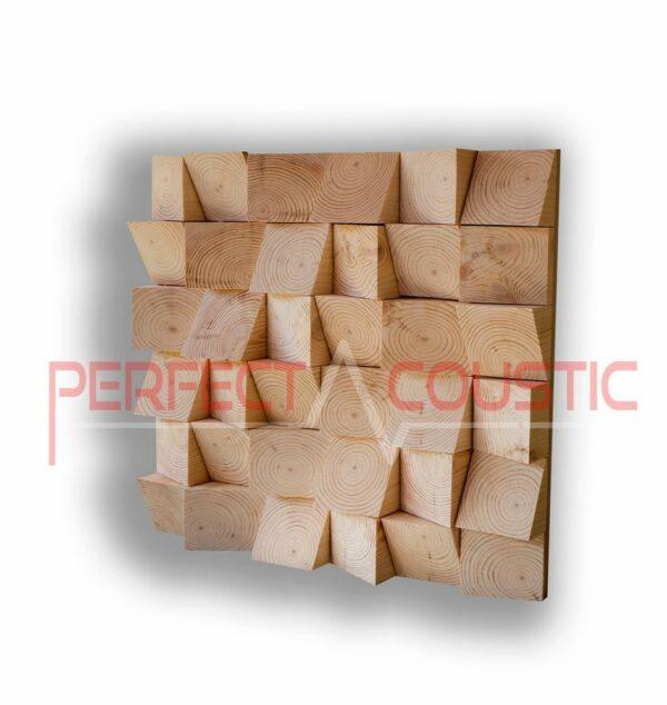 Akustisk diffusortyp av trä