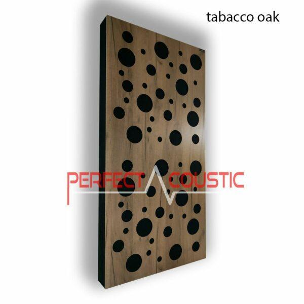 Akustisk panel med diffusormönster
