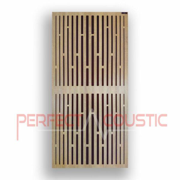 Akustisk panel med diffusormönster i galler