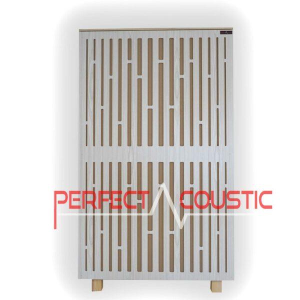 Akustisk panel på diffusorns frontpanel i vitt (2)