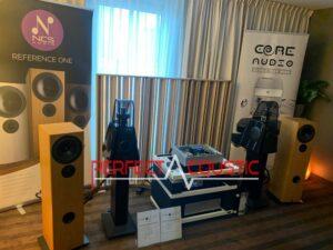 Core Audio hifi-show, akustisk absorberande presentation