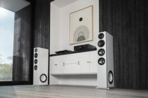 D15-högtalare i rummet