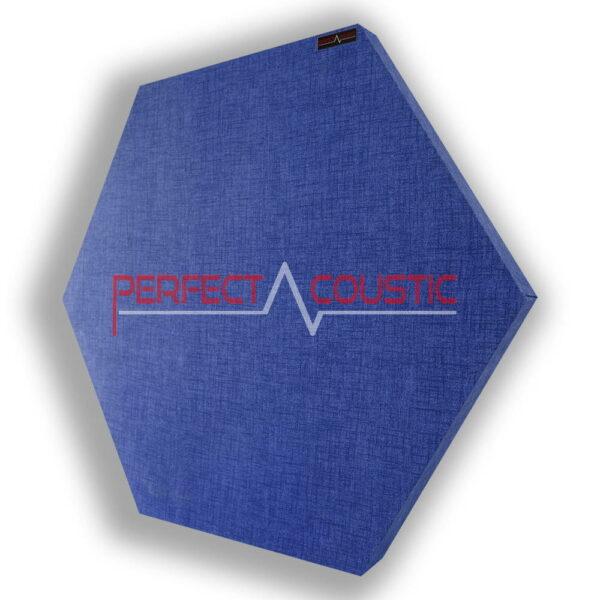 Mönstrad sexkantig akustisk panel blå