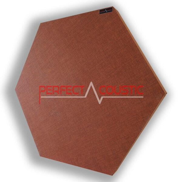 Mönstrad sexkantig akustisk panel brun