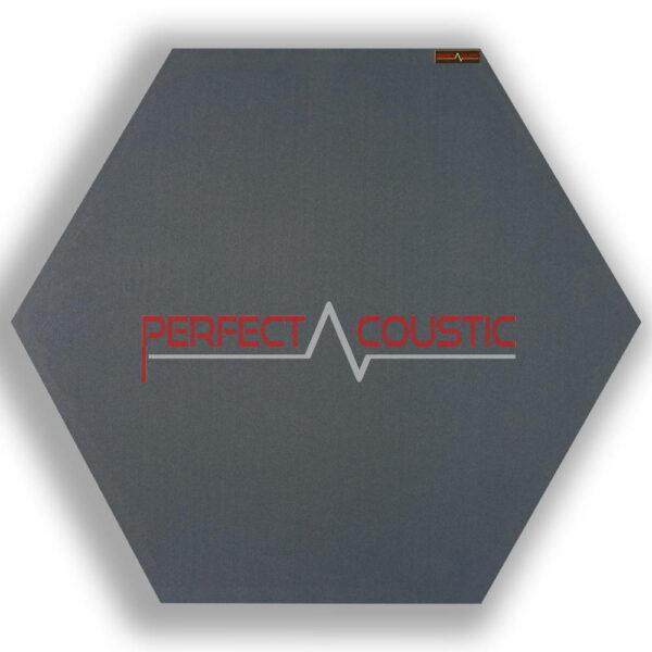 Mönstrad sexkantig akustisk panel grå 1.