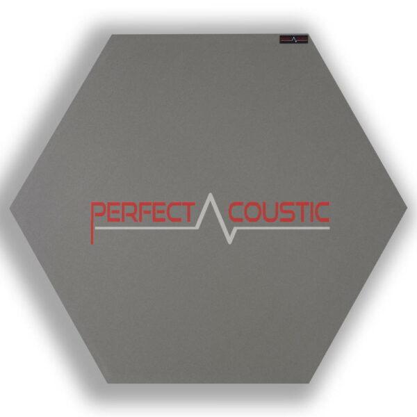 Mönstrad sexkantig akustisk panel grå 2.