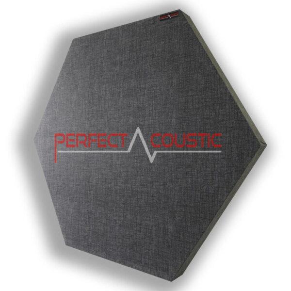 Mönstrad sexkantig akustisk panel grå