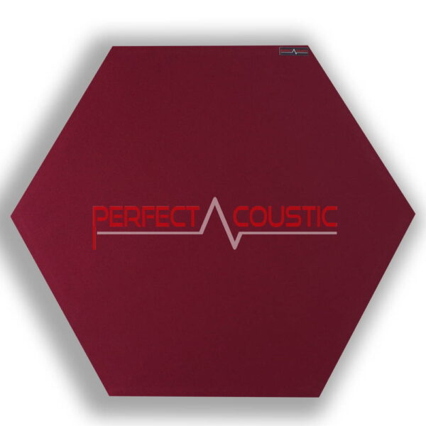 Mönstrad sexkantig akustisk panel röd