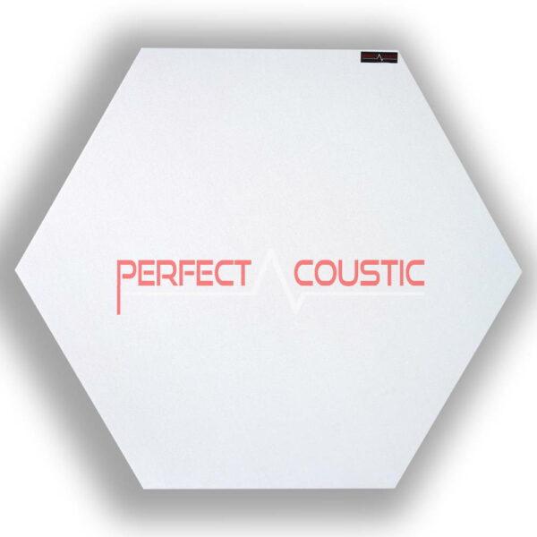 Mönstrad sexkantig akustisk panel vit