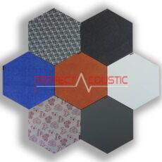 Mönstrade sexkantiga akustiska paneler-färger