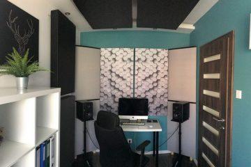 Perfekt akustisk ljudabsorberande panel i en liten husstudio (3)