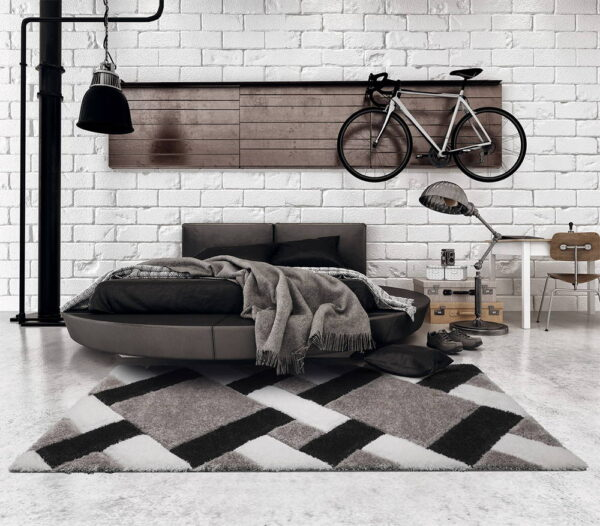Professional Calm grid grey záclona