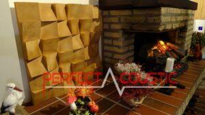 akustisk diffusor av trä