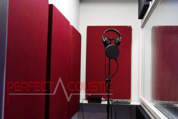 akustisk hantering av inspelningsrummet