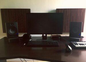 akustisk panel i studion