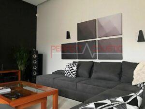 akustisk panel på väggen i biosalen (2)