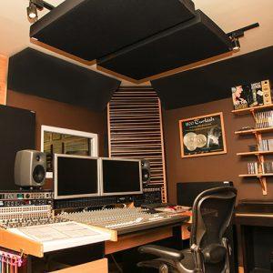 akustiska paneler i studion