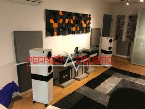 art akusztikai diffúzorok egy hifi rendszerben