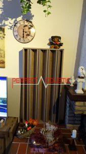 columnar akustisk diffusor av trä