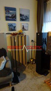 columnar akustisk diffusor vid reflektionspunkten