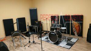 diffusor frontpanels akustiska paneler i studio