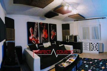hemmabio akustisk design med basabsorbent