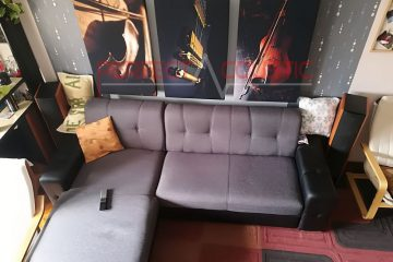 home theater acoustic design with rustic bass absorber