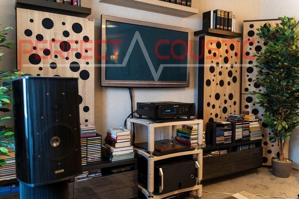 Akustiska paneler med diffusor