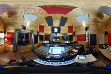 studioakustik med ljudabsorberande element