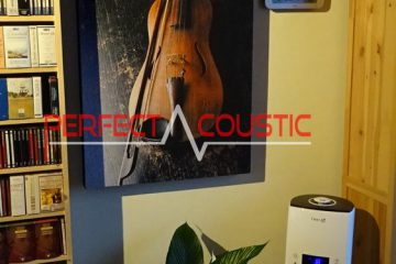 tryckt akustisk panel med fiol