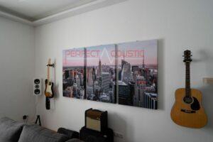 väggfoto akustiska paneler